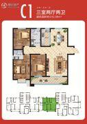 天场・瑞府3室2厅2卫142--143平方米户型图