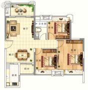 倾城国际3室2厅1卫89平方米户型图