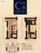 珠光御景壹号3室2厅2卫82平方米户型图