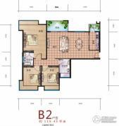 海赋长兴3室2厅2卫119平方米户型图