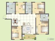纯翠4室2厅2卫135平方米户型图