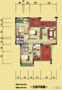 光瑞江都华宸3室2厅2卫102平方米户型图