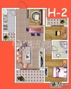 腾瑞・幸福里3室2厅1卫90平方米户型图