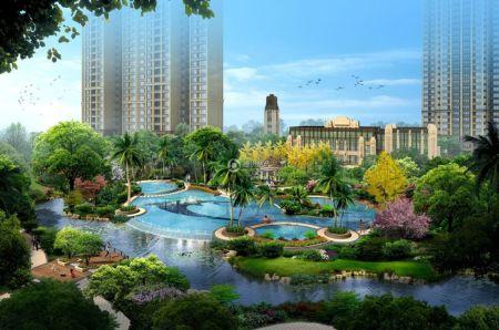 临桂新区西城大道南(公园旁/水系畔/邻市府) 开发商:桂林市兴进实业