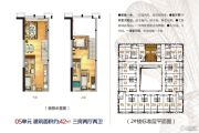蓝波湾3室2厅2卫42平方米户型图
