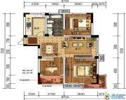 轩华・万华庭3室2厅1卫96平方米户型图