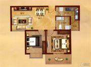 凤凰城2室2厅1卫82平方米户型图