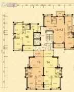 龙光・尚悦轩2室2厅2卫80--125平方米户型图