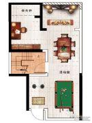民安北郡1室1厅1卫61平方米户型图