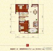 同兴苑2室2厅1卫98--99平方米户型图