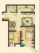 尚品燕园2室2厅1卫88平方米户型图