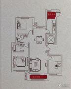 华友昆玉府3室2厅2卫133平方米户型图
