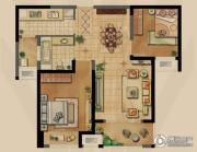 融侨观邸2室2厅1卫79平方米户型图