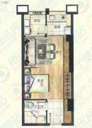 宁德大润发国际广场1室1厅1卫45平方米户型图