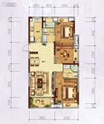 万科城・城果3室2厅2卫112平方米户型图