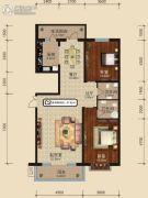 中关国际2室2厅2卫0平方米户型图