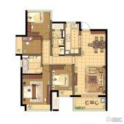 蓝光公园1号4室2厅2卫129平方米户型图