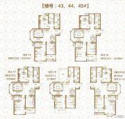 棠悦3室2厅2卫125--133平方米户型图