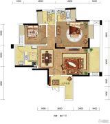 琥珀・东岸2室2厅2卫0平方米户型图