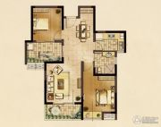 九龙仓时代上城2室2厅1卫89平方米户型图