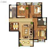 光明领御3室2厅1卫110平方米户型图