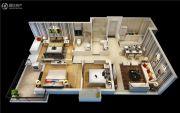 融信双杭城3室2厅2卫100平方米户型图