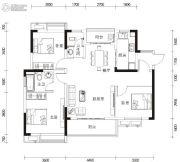 湘港3室2厅2卫110--111平方米户型图