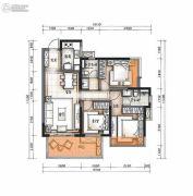 万科公园里3室2厅2卫89平方米户型图