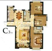 丽晶名邸2室2厅2卫135平方米户型图