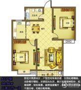 宿迁盛世嘉园2室2厅1卫96平方米户型图