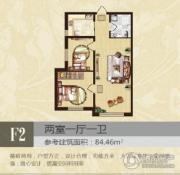 北岸七英里2室1厅1卫0平方米户型图