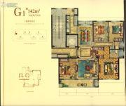 华鸿・瑞安华府4室2厅2卫142平方米户型图