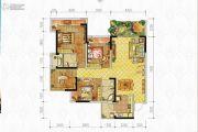 中房优山PLUS3室2厅2卫120平方米户型图