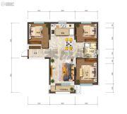 沈阳孔雀城3室2厅1卫96平方米户型图