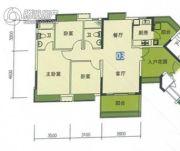 南华时代城3室2厅2卫105平方米户型图