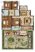 康桥香溪郡4室2厅2卫163平方米户型图