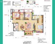 中骏四季阳光3室2厅2卫95平方米户型图