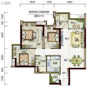 时代倾城4室2厅1卫90平方米户型图