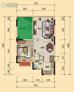 宏�S・缇香郡1室2厅1卫69平方米户型图