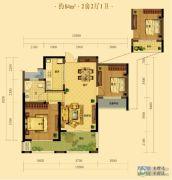 弘阳广场2室2厅1卫84平方米户型图