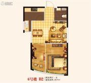 城关江南明珠2室2厅1卫70平方米户型图
