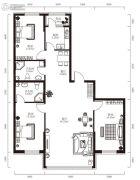 学府经典3室1厅2卫0平方米户型图