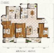 惠天然梅岭国际4室2厅2卫155平方米户型图