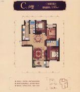 浙富・世贸广场3室2厅2卫135平方米户型图