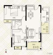 富力伯爵山2室2厅1卫85平方米户型图
