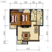 金地锦城2室2厅1卫75平方米户型图