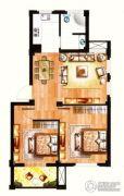 银兰公寓2室2厅1卫79平方米户型图