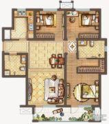 保利中央公园3室2厅2卫123平方米户型图