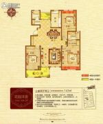 财富世家3室2厅1卫113平方米户型图
