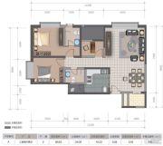 医大广场3室2厅2卫111平方米户型图